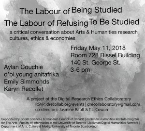 The Labour of Being Studied / The Labour of Refusing To Be Studied Event Poster
