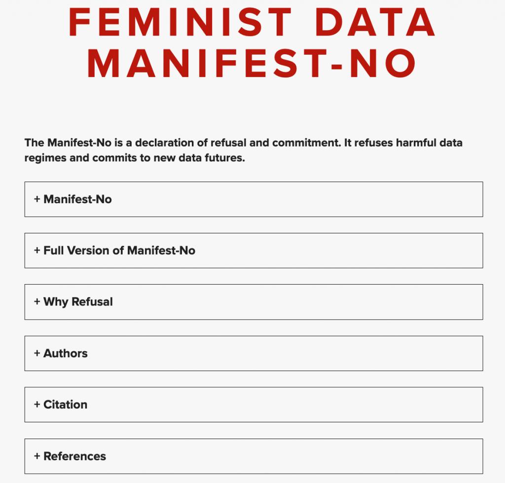 Feminist Data Manifest-NO